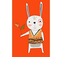 Cartoon Animals Tribal Bunny Rabbit Photographic Print