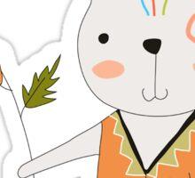 Cartoon Animals Tribal Bunny Rabbit Sticker