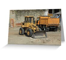 Truck and Loader Greeting Card