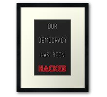 Mr Robot - Hacked Framed Print