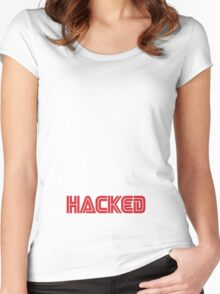 Mr Robot - Hacked Women's Fitted Scoop T-Shirt