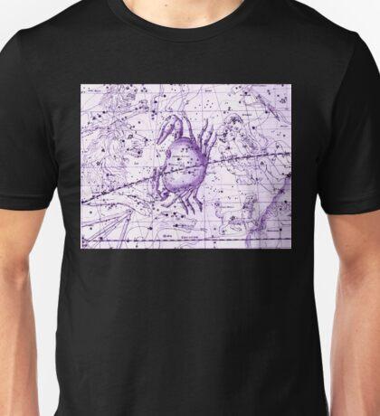 Astrology in Purple Unisex T-Shirt
