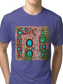 Ediemagic Earthy Worm with Pebbles & Grass Tri-blend T-Shirt