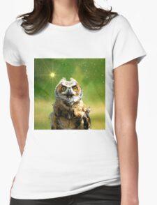 Twinkle twinkle little owl Womens Fitted T-Shirt