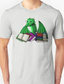 Green Dragon with Book Hoard Unisex T-Shirt
