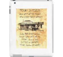 Judge Roy Bean iPad Case/Skin
