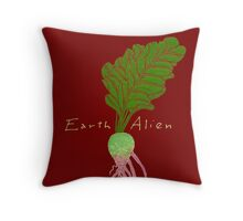 Earth Alien Watermelon Radish Throw Pillow