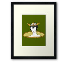 Cyclops Louise Brooks as Egyptian Valkyrie with All-Seeing Eye Framed Print