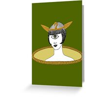 Cyclops Louise Brooks as Egyptian Valkyrie with All-Seeing Eye Greeting Card