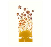 Psychedelic flower power Art Print