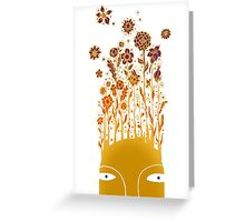 Psychedelic flower power Greeting Card