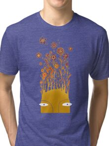Psychedelic flower power Tri-blend T-Shirt