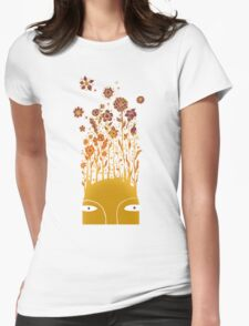 Psychedelic flower power Womens Fitted T-Shirt