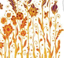 Psychedelic flower power Sticker