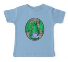 Book Hoarding Green Dragon with Tea Baby Tee