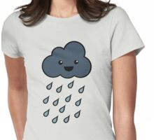 Happy Rain Cloud 3 Womens Fitted T-Shirt