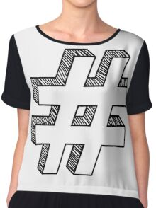 Infamous Sign Chiffon Top