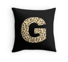 Leopard G Throw Pillow