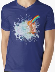 I Am Loved ( fish sandwich ) Black T-Shirt Mens V-Neck T-Shirt