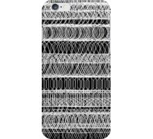 Chaotic geometry - Black and White iPhone Case/Skin