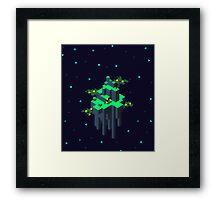 Space Island Framed Print