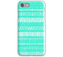 Chaotic geometry - White and Blue iPhone Case/Skin