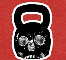 skull kettlebell Tri-blend T-Shirt