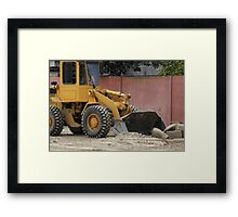 Heavy Construction Equipment Framed Print