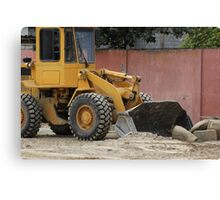 Heavy Construction Equipment Canvas Print
