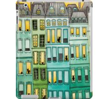 Cats in Green Townhouses iPad Case/Skin