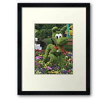 Playful Pluto Framed Print