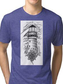 Lighthouse & Steering Wheel Tri-blend T-Shirt