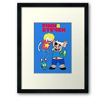 Adventure Time Finn & Steven Framed Print