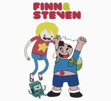 Adventure Time Finn & Steven Kids Tee