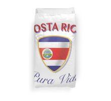 Costa Rica - Pura Vida - Escudo Duvet Cover