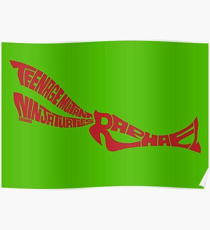 Raphael TMNT Red Poster