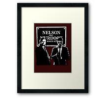 Nelson and Murdock Framed Print