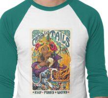 Campfire Tails: Keep Furry Weird Men's Baseball ¾ T-Shirt