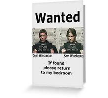 Winchesters Wanted  Greeting Card