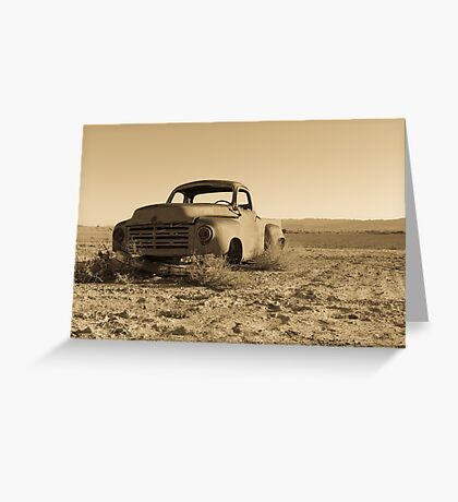 Antique Studebaker Truck in the Desert Greeting Card