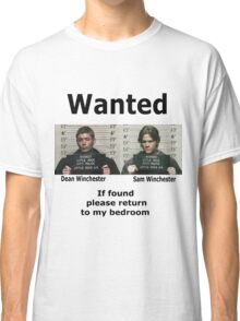 Winchesters Wanted  Classic T-Shirt