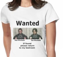Winchesters Wanted  Womens Fitted T-Shirt