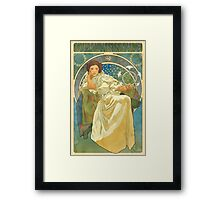 Princezna Nouveau Framed Print