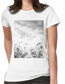 Fading Roses Silver Lining Womens Fitted T-Shirt