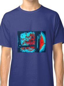 ABSTRACT BLUES AND RED Classic T-Shirt