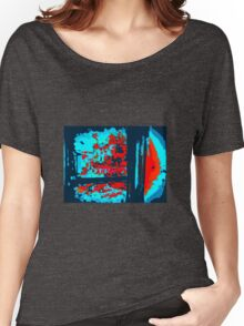 ABSTRACT BLUES AND RED Women's Relaxed Fit T-Shirt