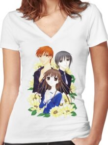 Fruits Basket Women's Fitted V-Neck T-Shirt