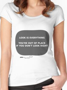Message From Afar - Look Women's Fitted Scoop T-Shirt