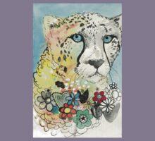 Cheetah Flowers Kids Tee