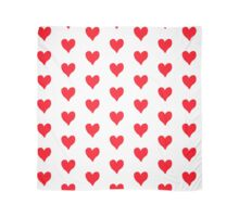Red love heart Scarf